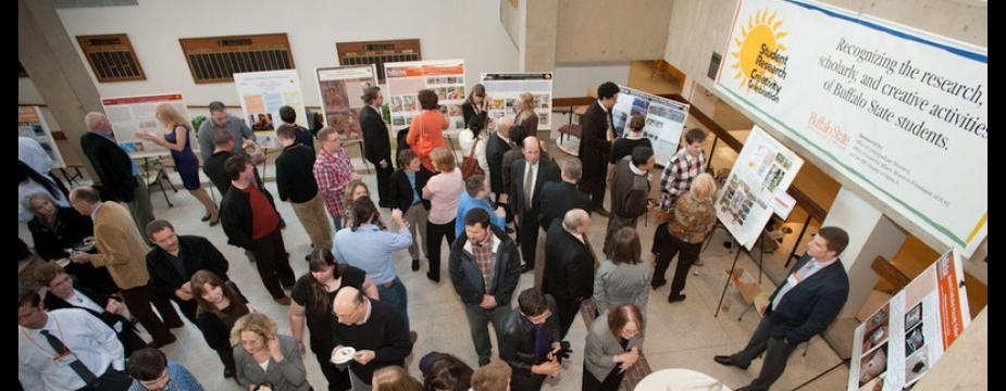Research and Creativity Celebration crowd
